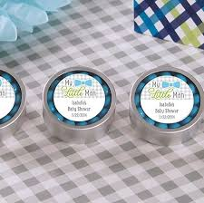 mint to be favors my personalized silver mint tin baby shower favors