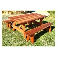 Round Redwood Picnic Table by Best Redwood Traditional Picnic Table Hayneedle