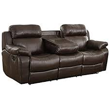 amazon com homelegance marille reclining sofa w center console