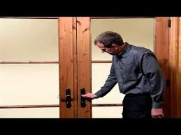 Extra Security Locks For French Doors - multi point lock operation on hinged patio doors youtube