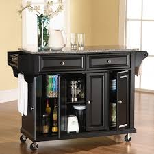 crosley kitchen island crosley solid granite top kitchen cart island hayneedle