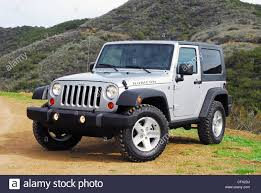 grey jeep wrangler 2 door beauty right 2007 jeep wrangler rubicon two door stock photo