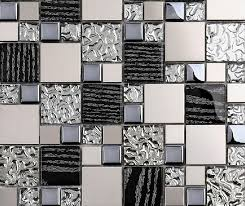 stainless steel tiles for kitchen backsplash silver metal mosaic stainless steel tile kitchen backsplash wall