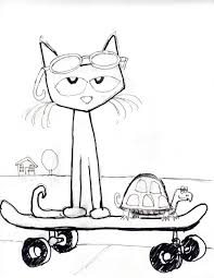 pete the cat coloring page eson me