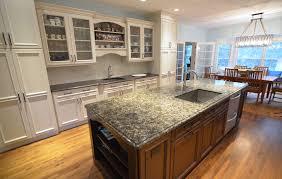 kitchen glamorous ktchen with blue backsplash and wooden