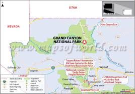 grand national park map grand national park arizona usa facts map best