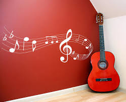 music note scale vinyl lettering wall words quotes graphics decals
