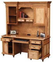 Amish Home Decor Furniture Amish Computer Desks Solid Hardwood Material Design