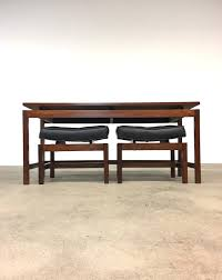 jens risom curved top stools table mid century richbilt