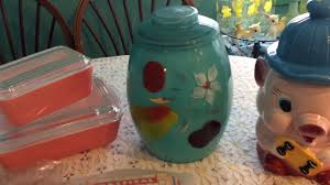 vintage thrift haul 23 pyrex bartlett collins cookie jar
