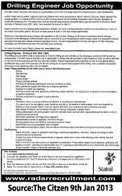 drilling engineer cover letter