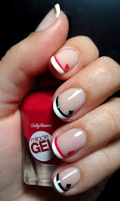 disney queen of hearts french manicure u2013 emi u0027s manis