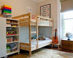 Ikea Bunk Beds Kids Ikea Svrta Loft Bed Frame With Desk Top Vre - Ikea bunk bed room ideas