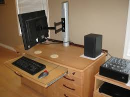 Diy Height Adjustable Desk by Steel How Can I Transmogrify A Fixed Monitor Post In To A