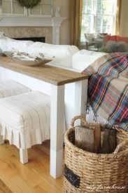 diy canapé fabriquer une table d appoint pour le canapé 13 idées pour vous