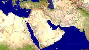World Map Middle East by Primap National Maps