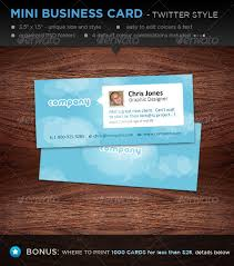 Business Cards Mini Mini Designer Business Cards Twitter Style By Davidfromafrica