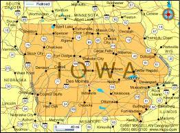 road map of iowa usa iowa counties road map usa