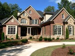 Stone Brick A Circular Drive Leads Up To This Brick And Stone Home Which Has