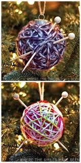 true blue me u0026 you diys for creatives u2022 diy yarn ball ornaments 2