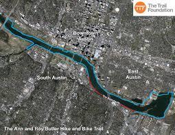 Colorado River Texas Map The Trail Foundation About The Butler Trail The Trail Foundation