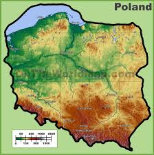 Physical Map Of Germany by Poland Maps Maps Of Poland