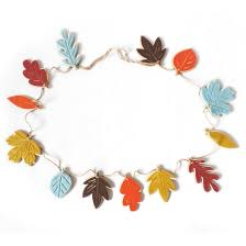 harvest wooden wreath with felt leaf garland target