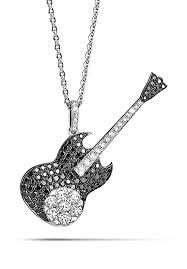 guitar pendant necklace images Rare and mysterious black diamonds guitar 18k pendant coronet store jpg