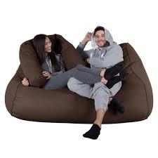 giant bean bag sofa lounge pug mega beanbag sofa uk wool brown