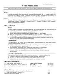 examples of military resumes military flight officer resume