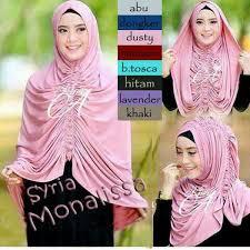 tutorial hijab pesta 2 kerudung hijab syar i krezia monalissa premium model hijab pesta bisa