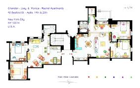 hand drawn floor plans of popular tv shows friends trendland