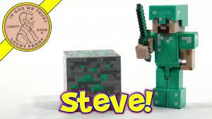 diamond steve minecraft steve with diamond armor series 2 jazzwares