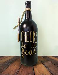 wine bottle guest book cheers to 60 years personalized wine bottle guest book for
