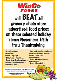 winco has your thrifty thanksgiving with their price promise a