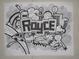 free doodle name doodle royce by sarahrejinah on deviantart