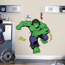 roommates decor classic hulk comic peel and stick giant wall