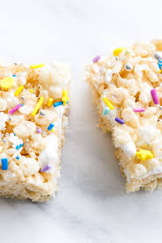 eggnog rice krispie treats and olive