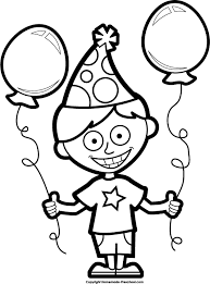 koala coloring boy birthday clipart library clip art