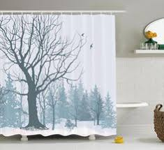 Machine Washable Shower Curtain Liner Fall Trees Print Polyester Fabric Shower Curtain Ambesonne Http
