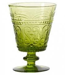 bicchieri verdi set di 6 bicchieri da vino in vetro verde mela linea provenzale