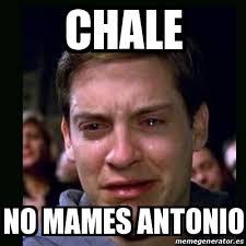 Antonio Meme - meme crying peter parker chale no mames antonio 16095196