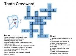 crossword puzzles teeth health