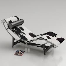 3d le corbusier lc4 chaise lounge high quality 3d models