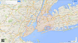 Google Map Of United States by New York City New York Map