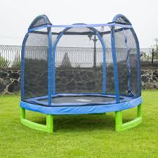 kids trampoline with net bounce pro 7 u0027 my first hexagon backyard