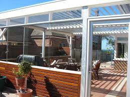 Enclosed Patio Designs Outdoor Wood Wall Ideas With Potted Plant Plus Enclosed Patio