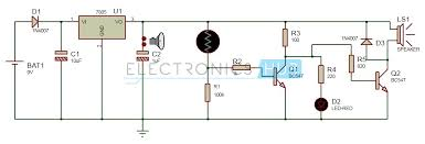 electronic eye controlled security system circuit using ldr