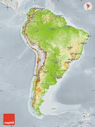 Geographical Map Of South America by Physical Map Of South America Lighten Physical 3d Map Of South