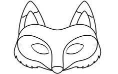 goat mask coloring page fox mask coloring sheet masky pinterest fox mask masking and